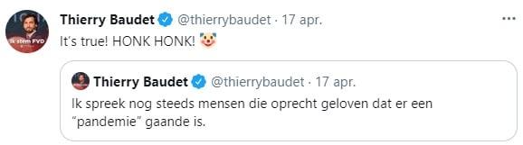 Screenshot van antisemitische tweets van Baudet met tekst: